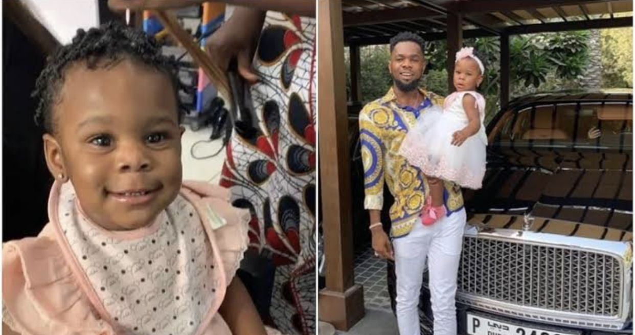 Patoranking and his daughter, Wilmer