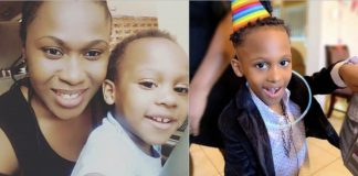 Uche Jombo and her son