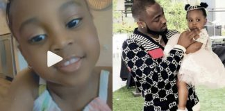 Davido and his second child, Hailey