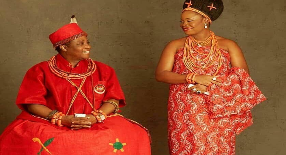 Oba of Benin and Queen Iyayota