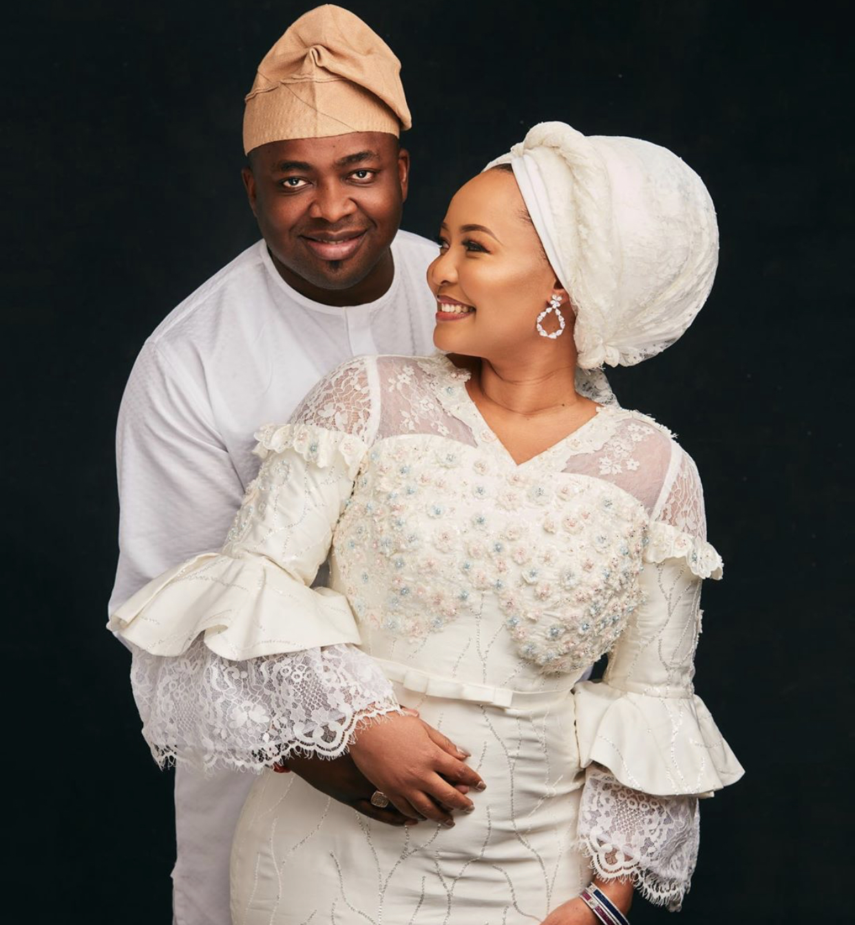 Oba Saheed Elegushi and his second wife, Olori Hadiza Yakasai Elegushi