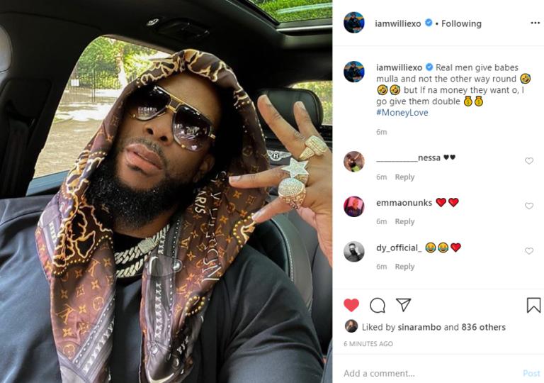 The rapper's post