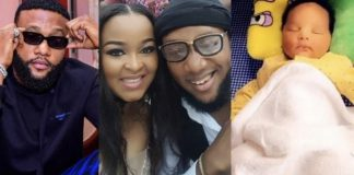Kcee, his wife and son