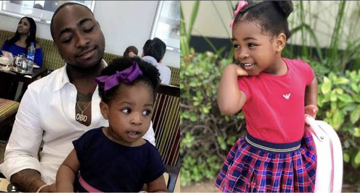 Davido and his first daughter, Imade