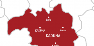 Kaduna on map