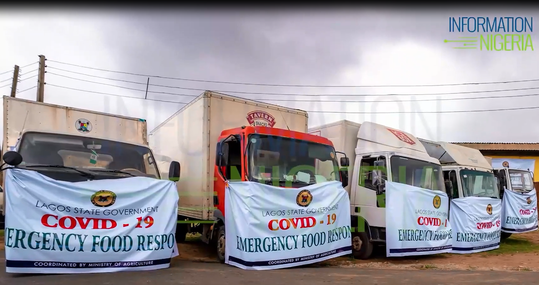 Lagos emergency food response operational vehicle