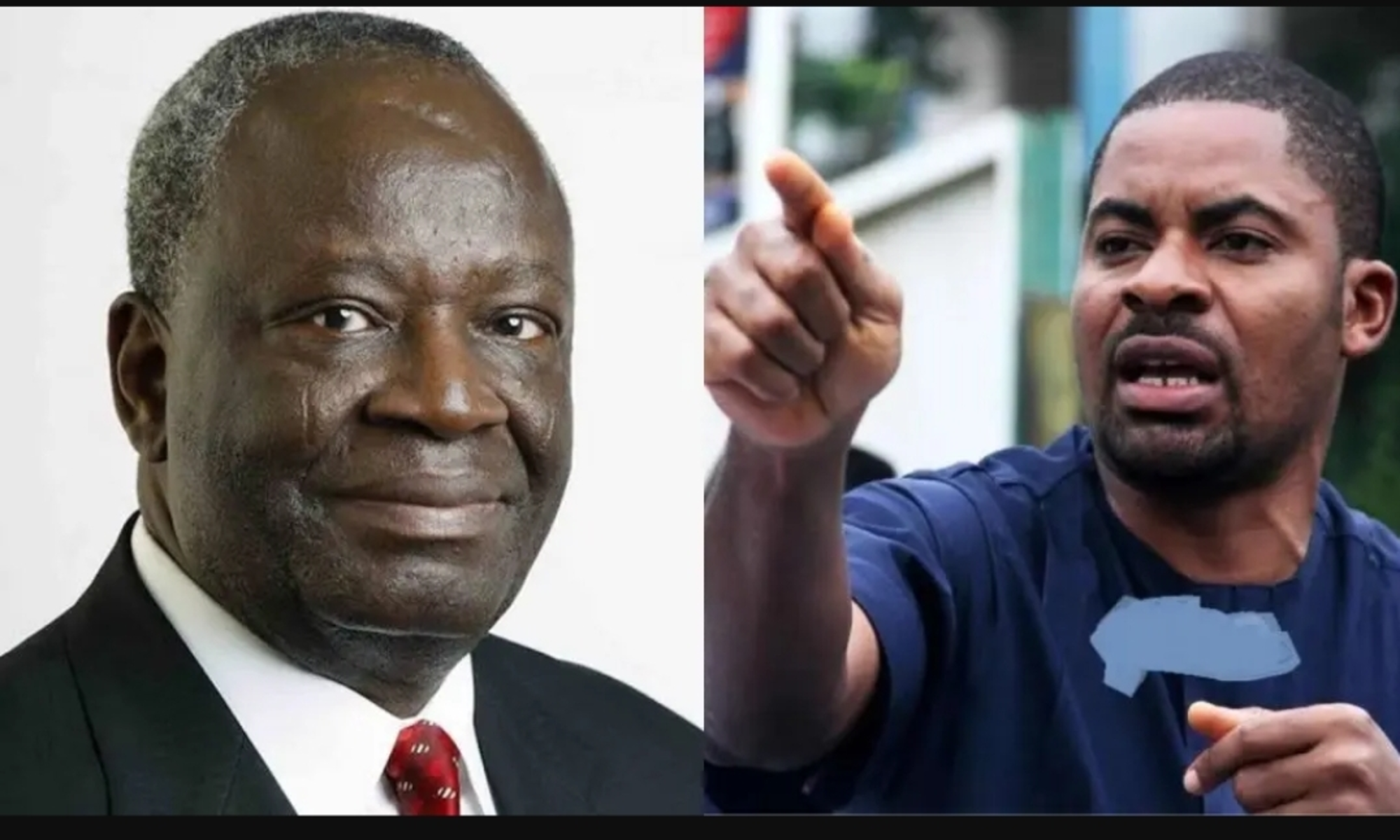 Ibrahim Gambari and Deji Adeyanju