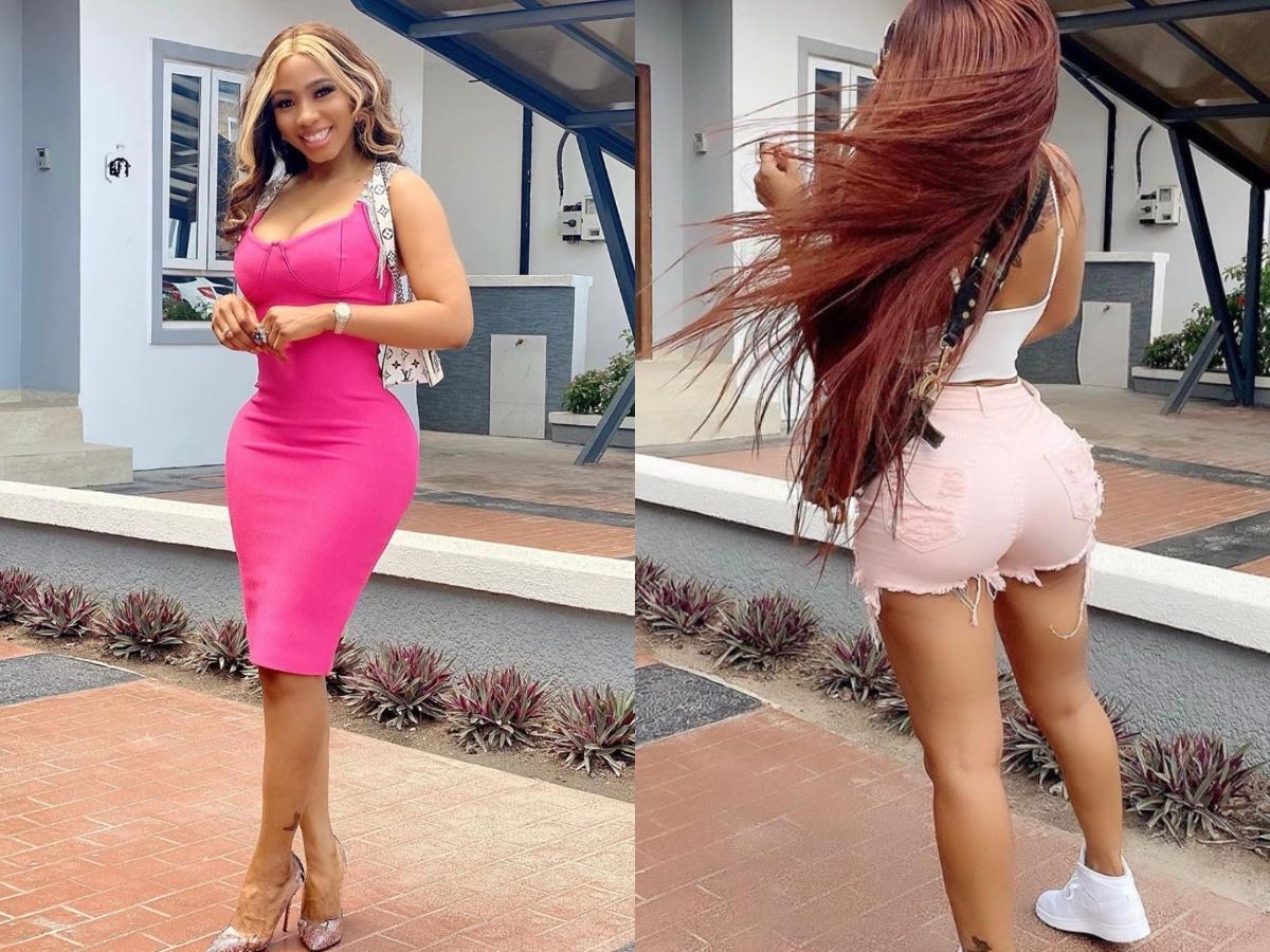 Mercy Eke posing in the same spot