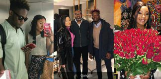 Collage photo of Femi Otedola, Mr Eazi and Temi