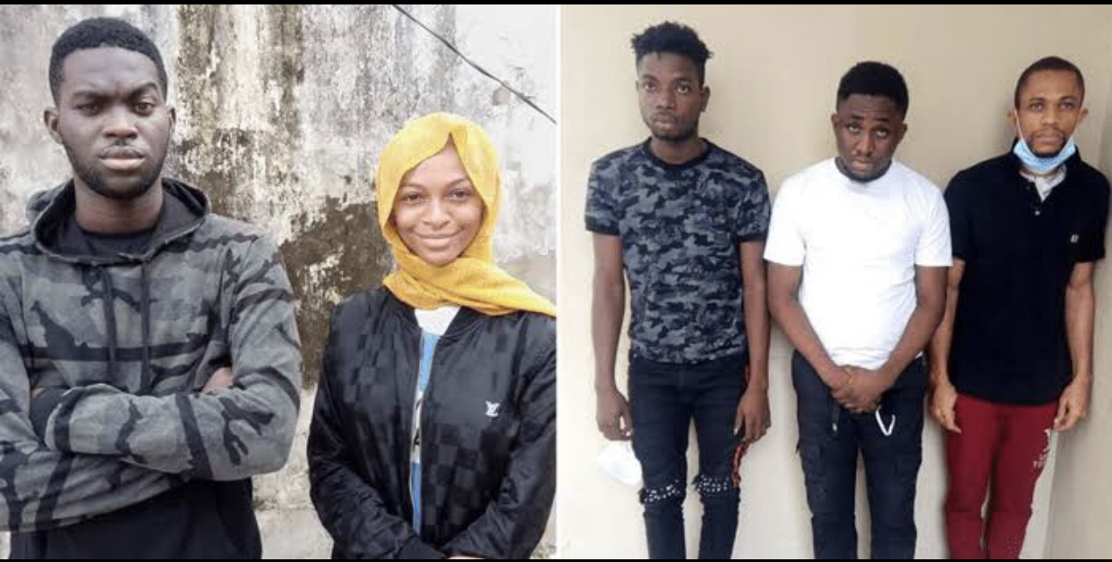 The social media influencer, Adeherself and the four others allegedly involved in internet fraud