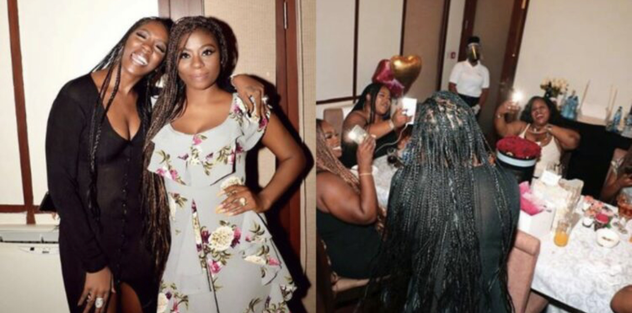 Sophia Momodu and Tiwa Savage