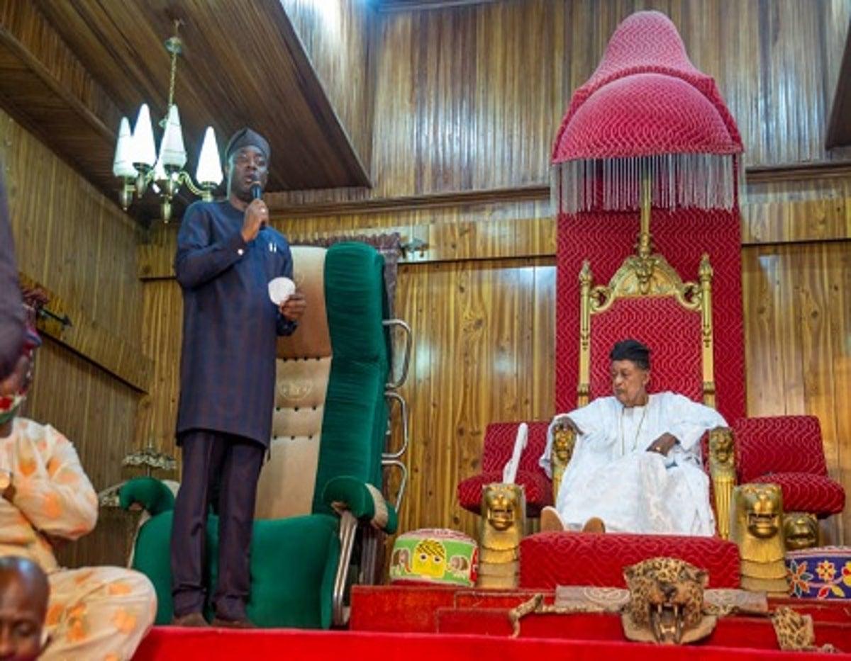 Seyi Makinde and Alaafin of Oyo