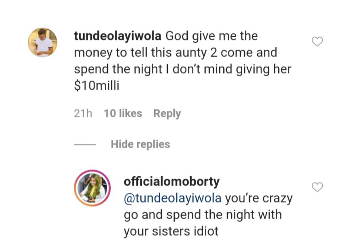 The exchange between the duo