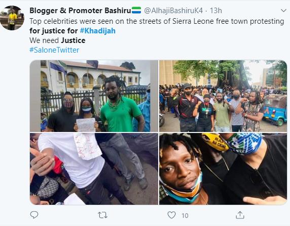 People demanding for justice