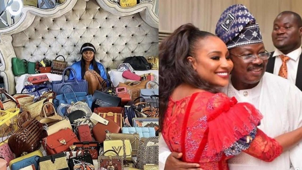 Collage photo of Ajimobi and daughter