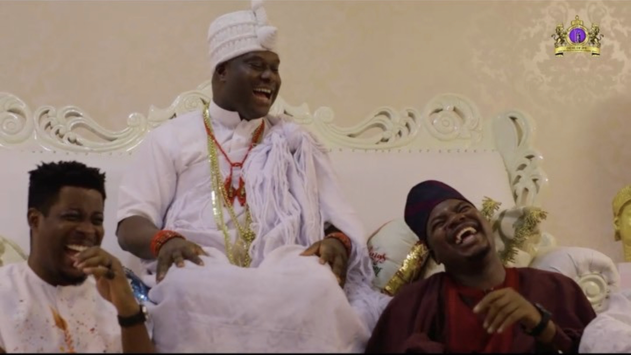 Ooni of Ife, Seyi Awolowo and Mr Marcaroni