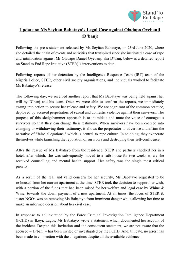 The press statement