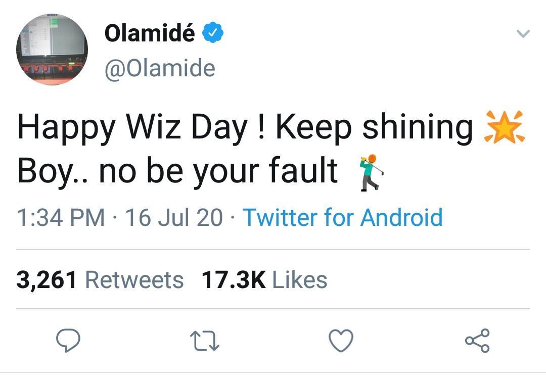 The rapper's tweet