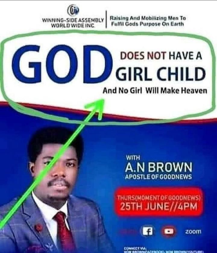 Pastor Says No Woman Will Make Heaven
