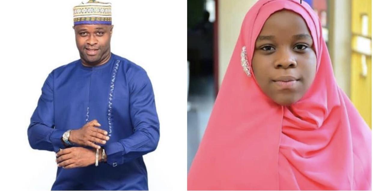 Femi Adebayo Salami and his daughter