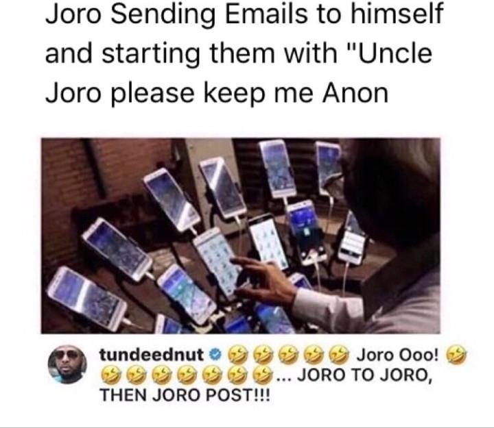 Tunde Ednut and Joro Olumofin