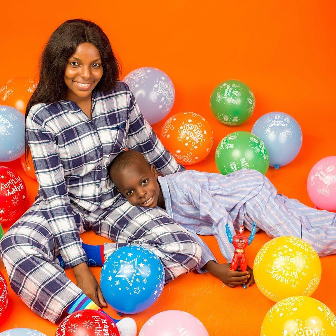 Wathoni Anyasi and her son