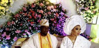 Nigerian actress, Lizzy Anjorin and her husband