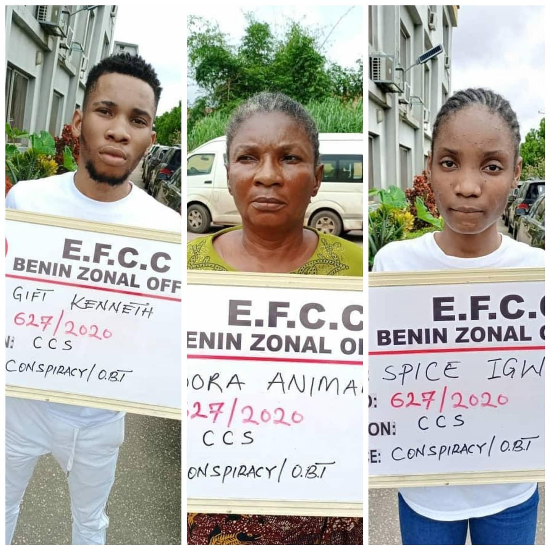 EFCC Arrest Fraudsters