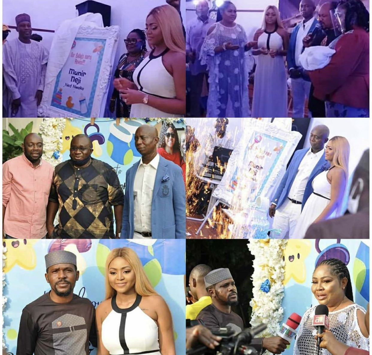 Photos from the naming ceremony of Regina Daniels' son