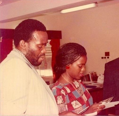 Nollywood couple, Olu Jacobs, Joke Silva