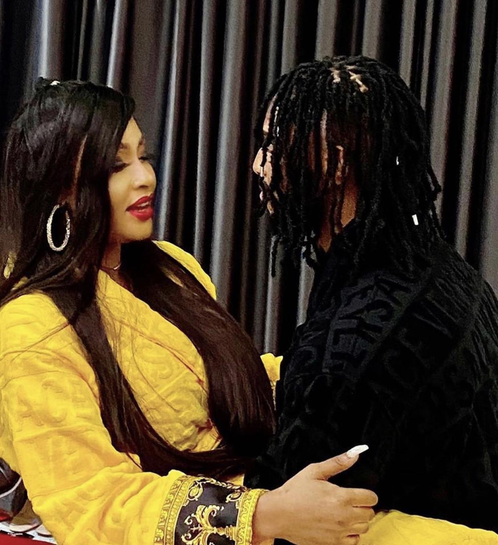 Angela Okorie and her fiancé