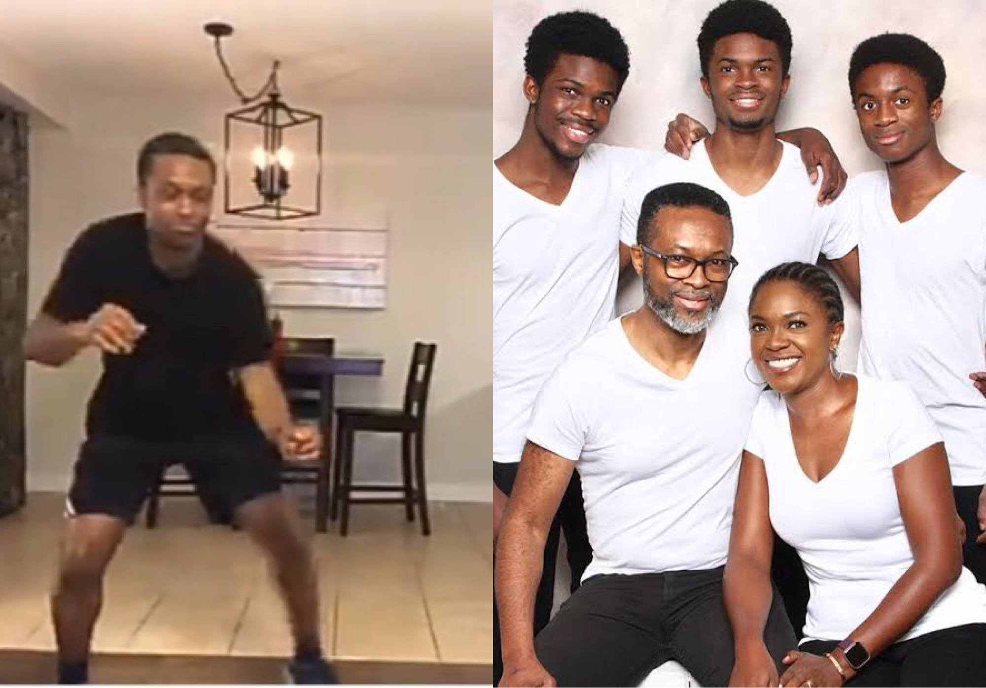 Omoni Oboli, her husband and kids