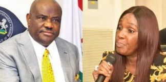 Photo of ex NDDC boss,Joy Nunieh and Governor Wike