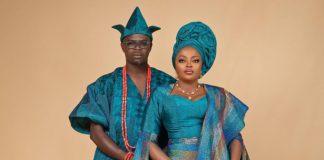 Funke Akindele-Bello and husband, JJC Skillz