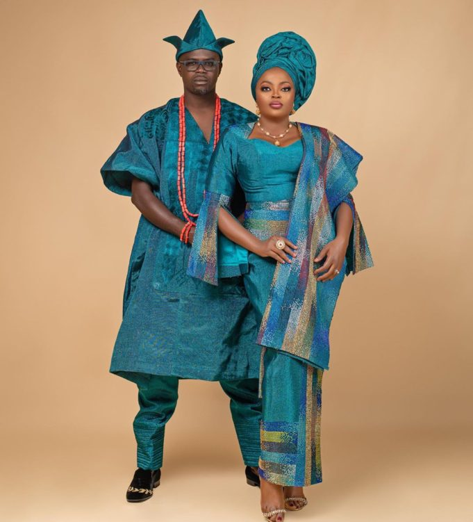 Funke Akindele-Bello and husband, JJC Skillz
