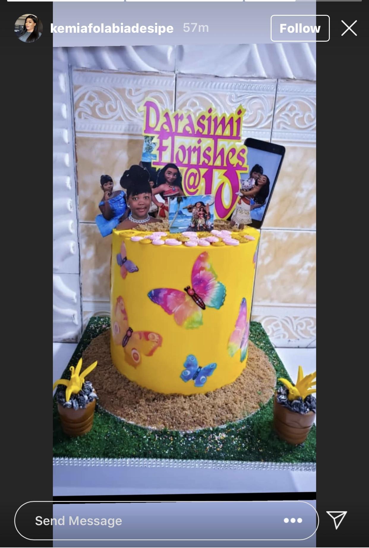 Darasimi's birthday cake