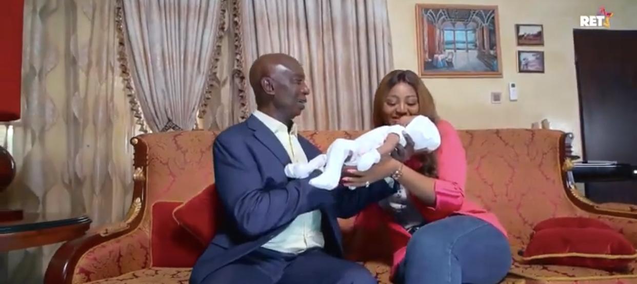 Ned Nwoko, Regina Daniels and their son, Munir
