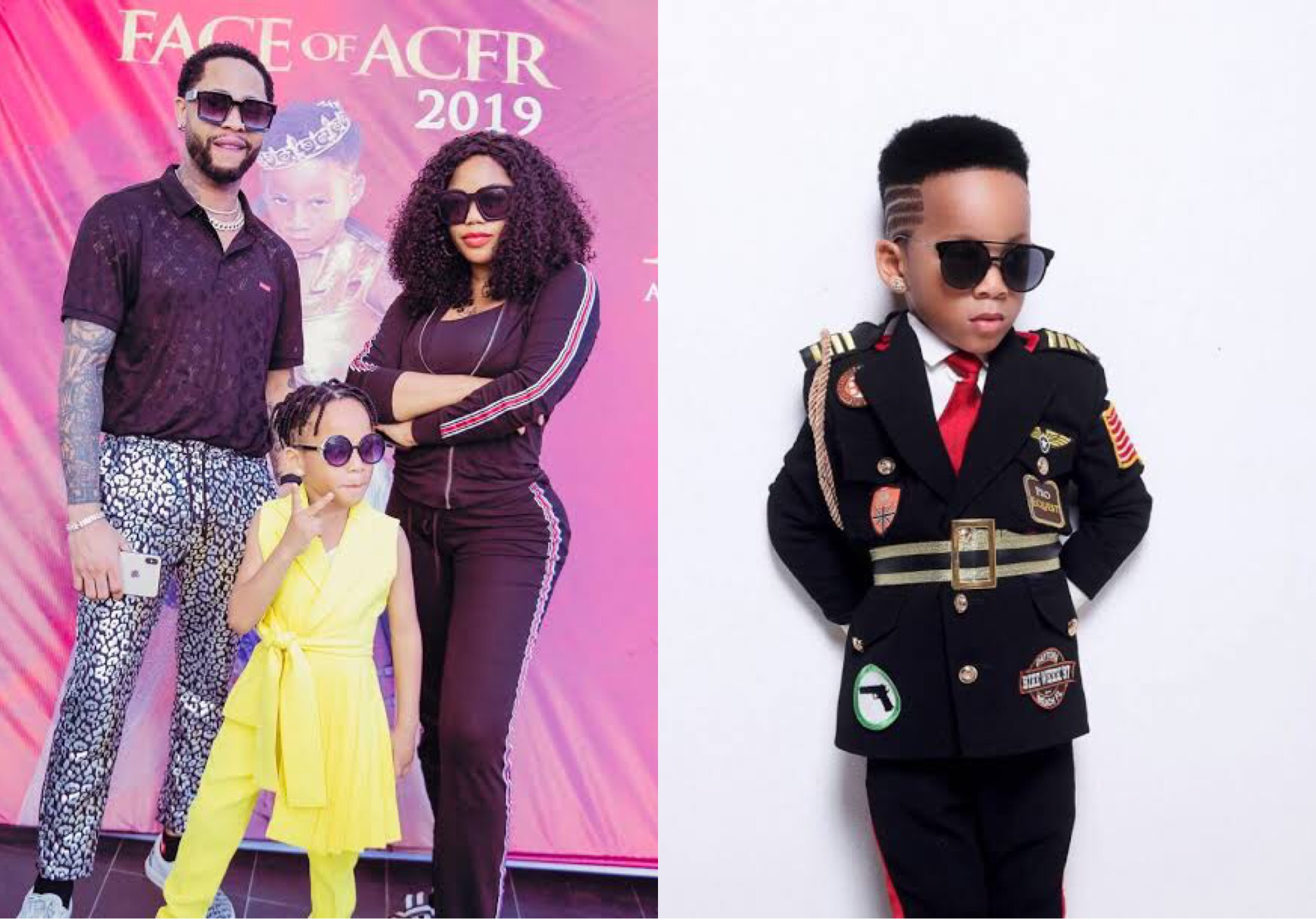 Toyin Lawani and her baby daddy