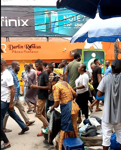Lagos computer village: No face masks, no physical distancing