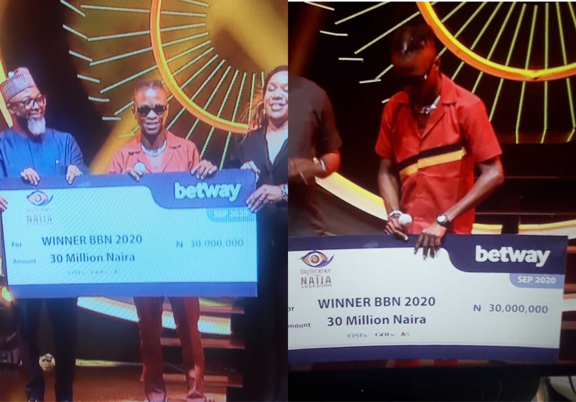 BBNaija's Laycon Finally Receives Cheque Of N30Million