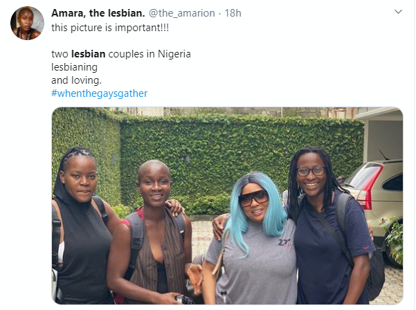 The lady's tweet