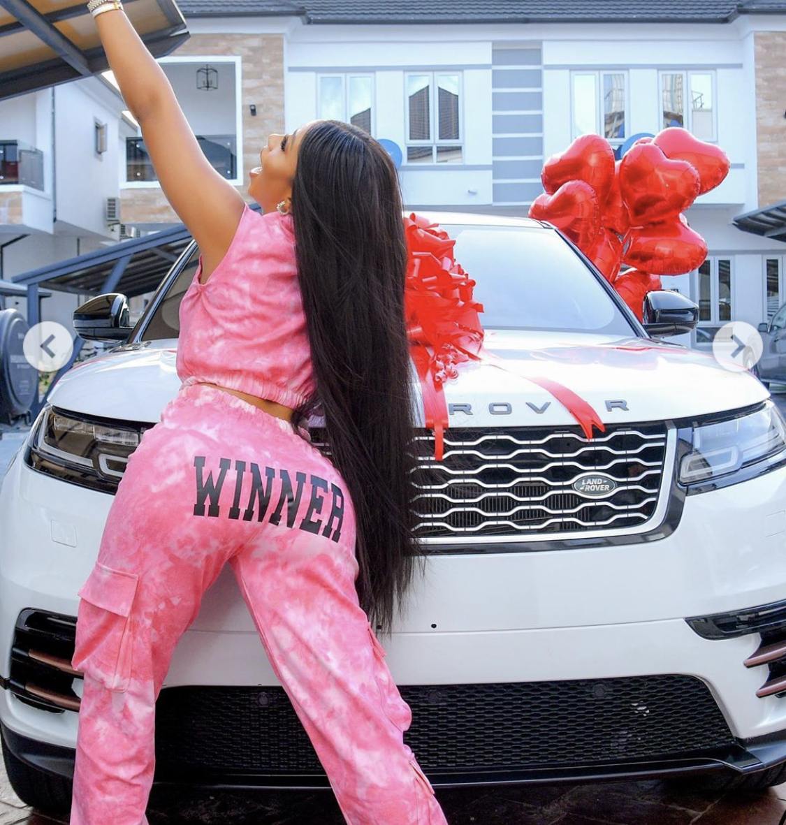 Mercy Eke and her new car
