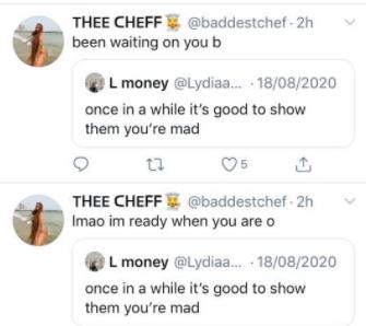 Lydia's tweets