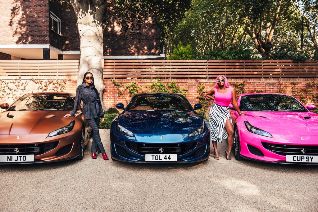 The girls and their luxury rides