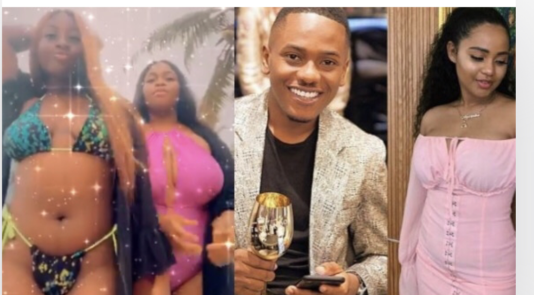 Timini Egbuson, his girlfriend and alleged side chic