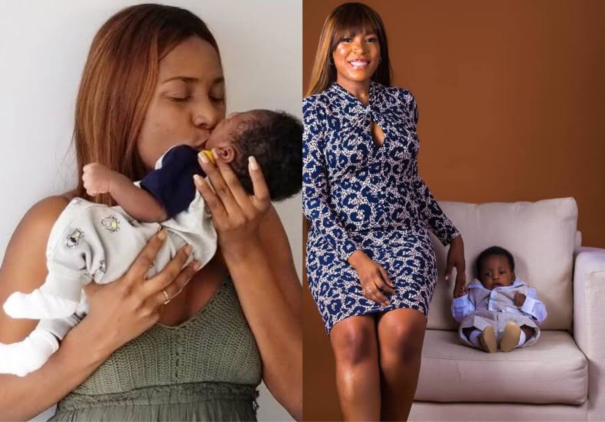 Linda Ikeji and her son