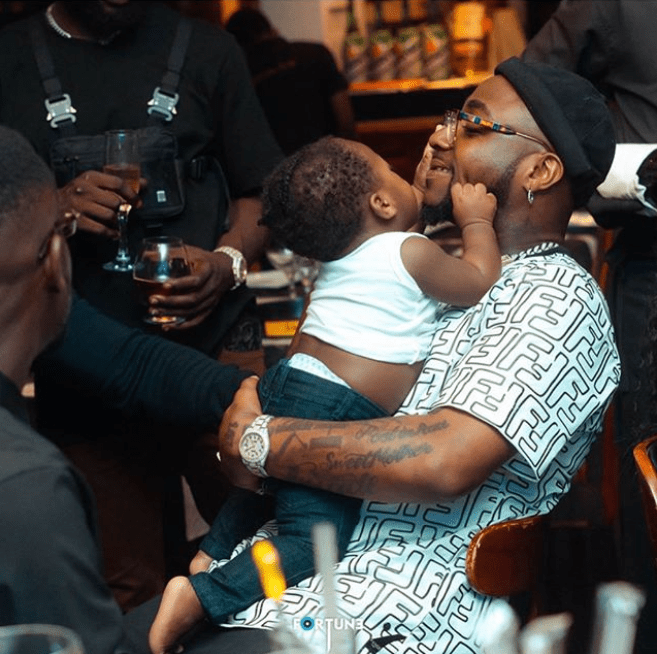 Davido and his son
