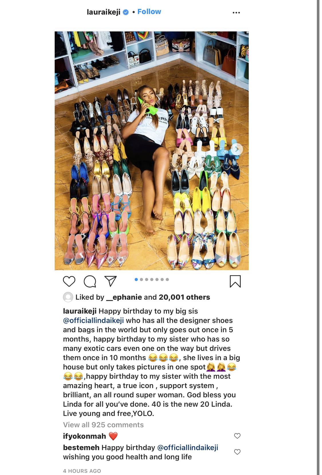 The fashion entrepreneur's post