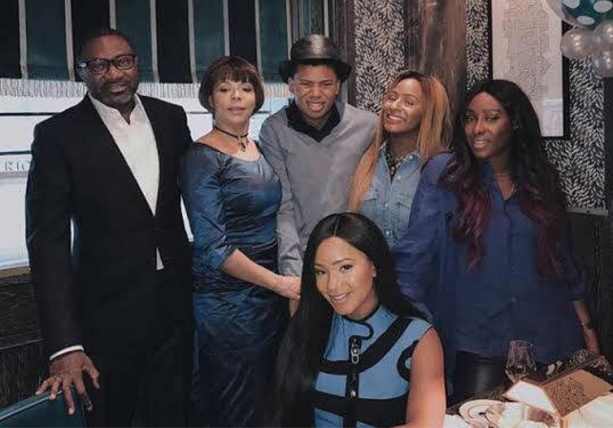 Femi Otedola and his family
