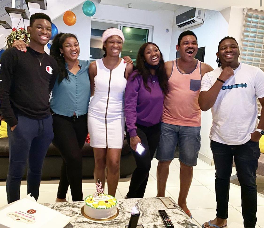 Omotola Jalade-Ekeinde and her family